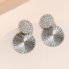 1 Paar Ohrringe mit Strass Detail