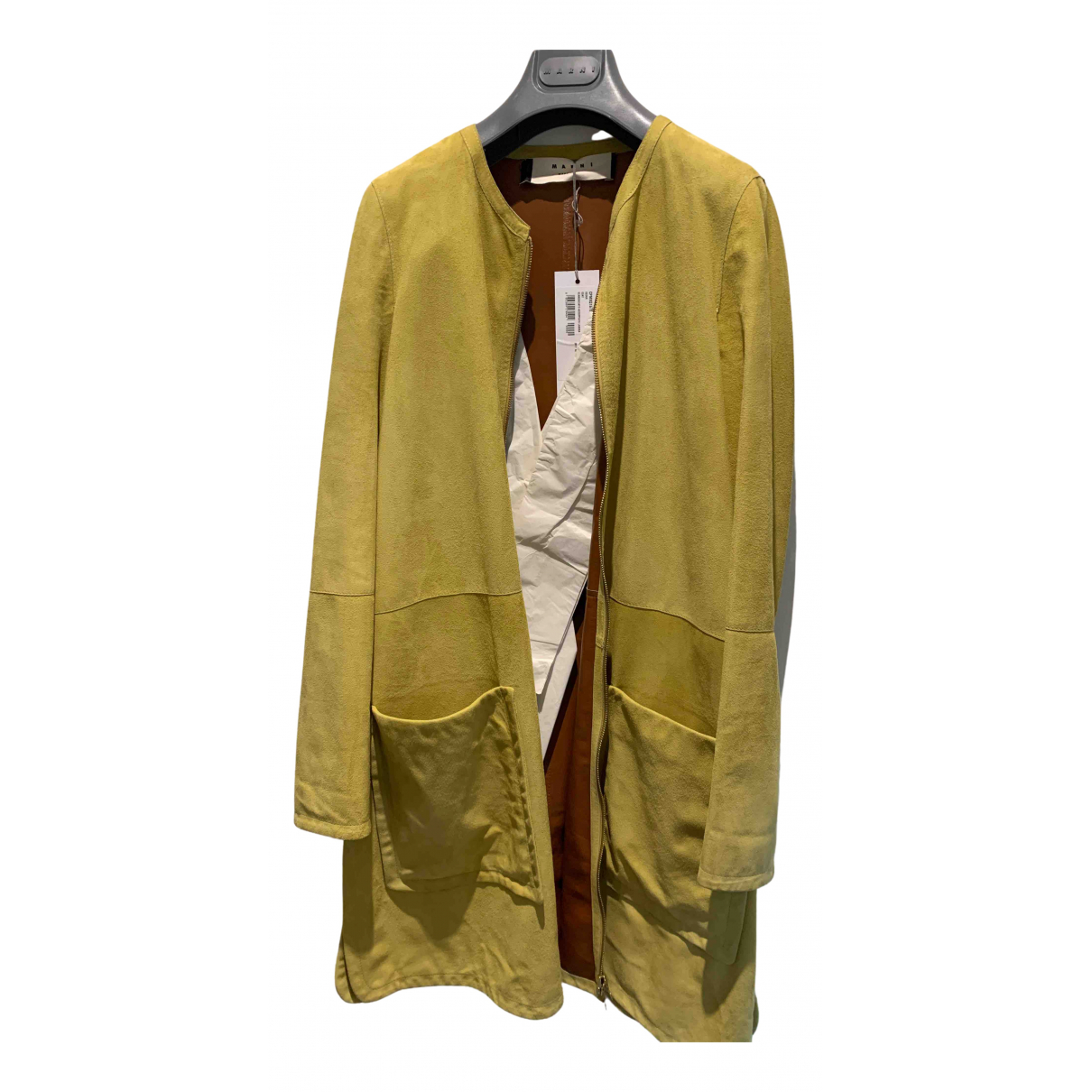 Marni \N Yellow Suede coat for Women 38 FR