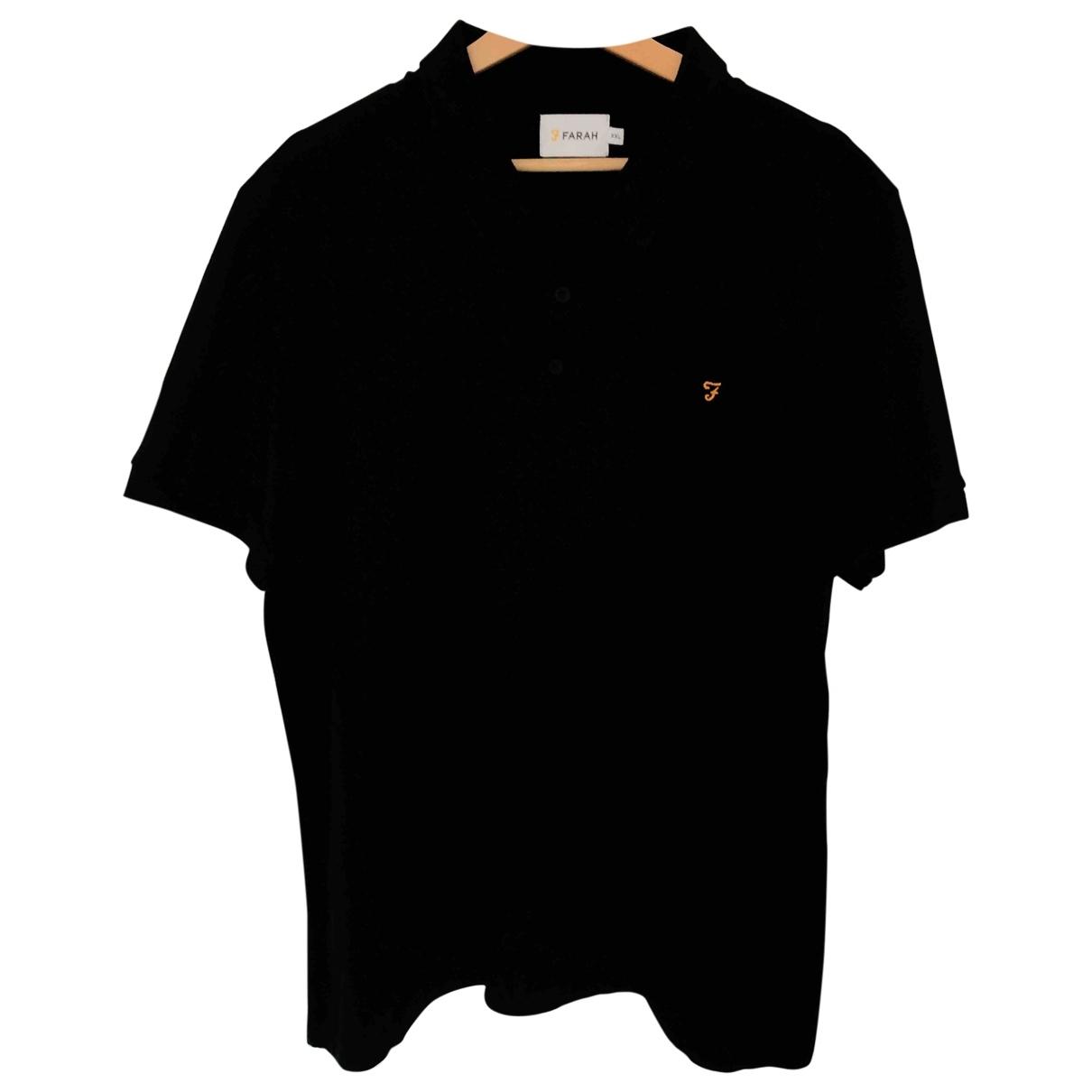 Farah \N Poloshirts in  Schwarz Baumwolle