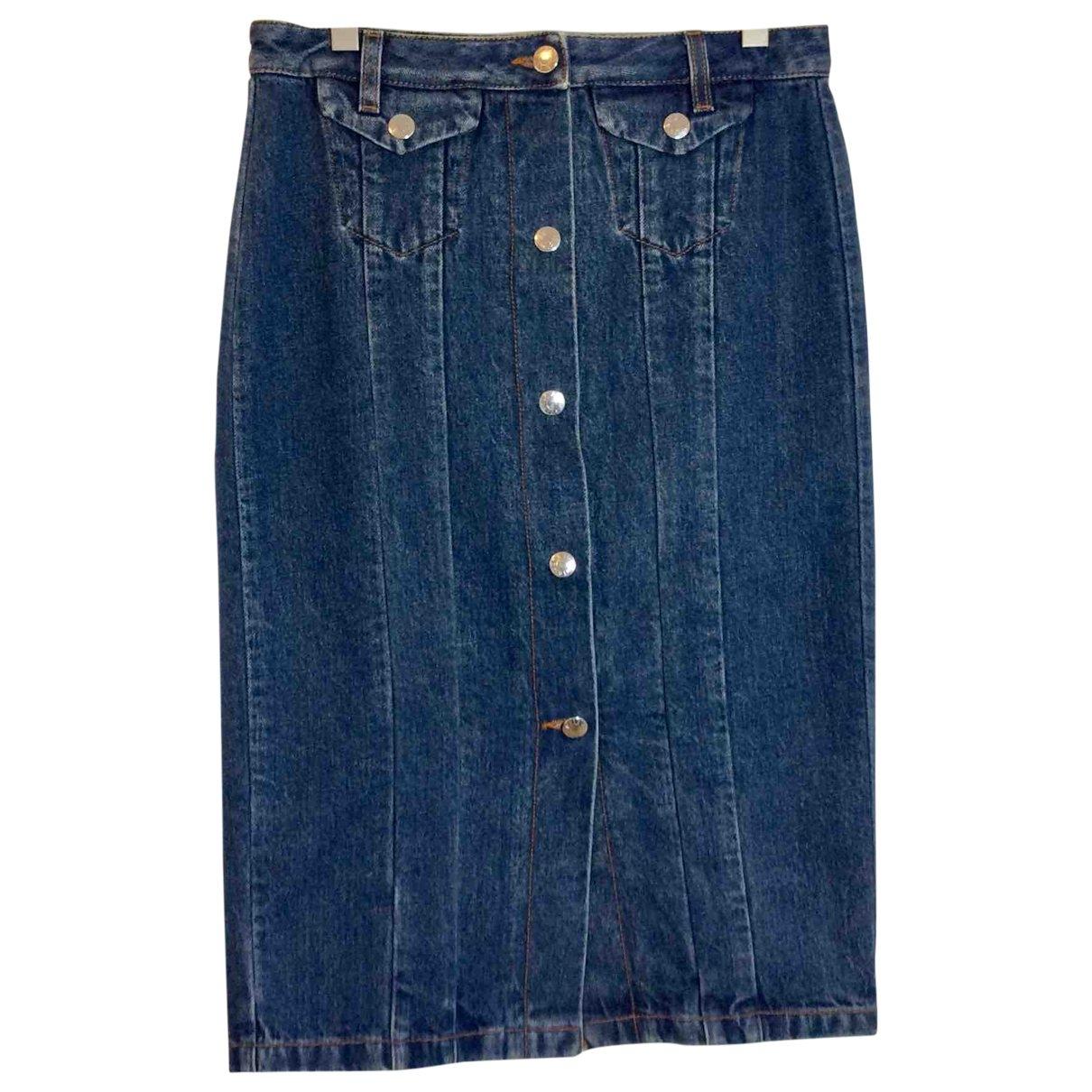 Acne Studios \N Blue Denim - Jeans skirt for Women 34 FR