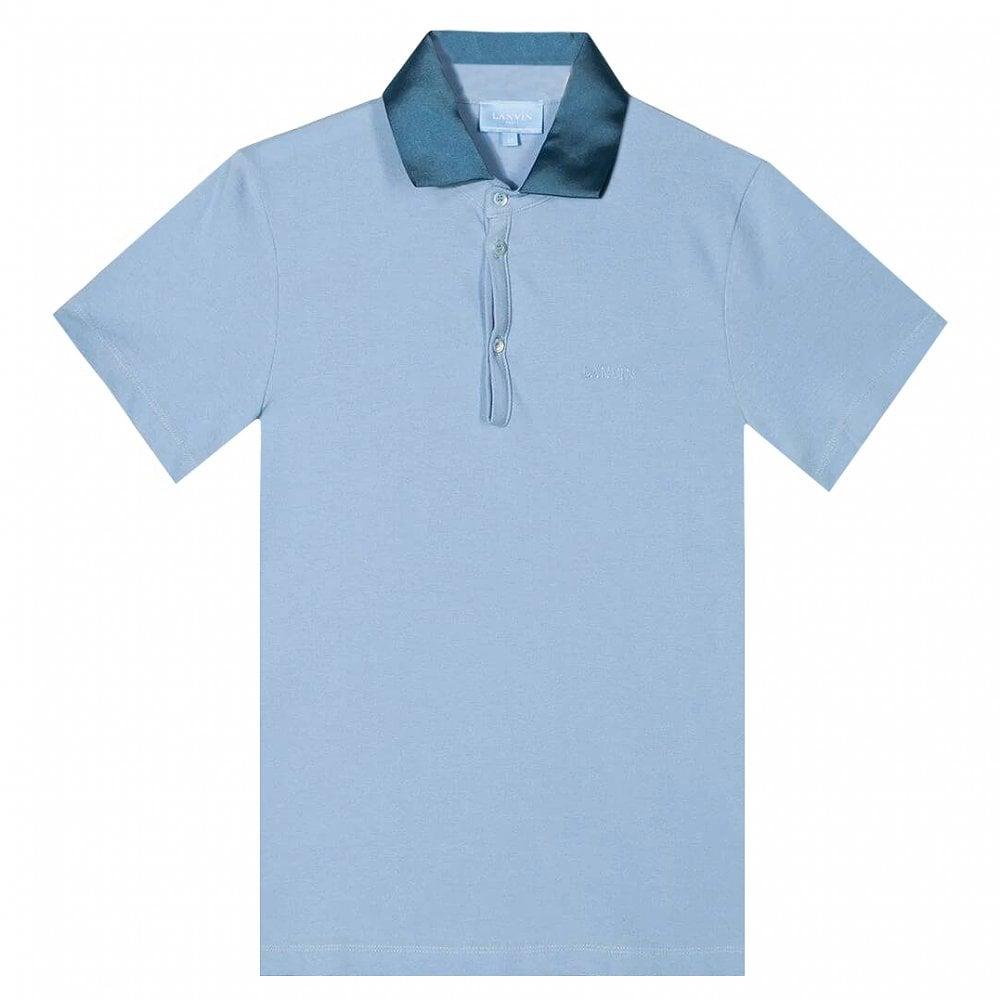 Lanvin Paris Kids Polo Colour: BLUE, Size: 8 YEARS