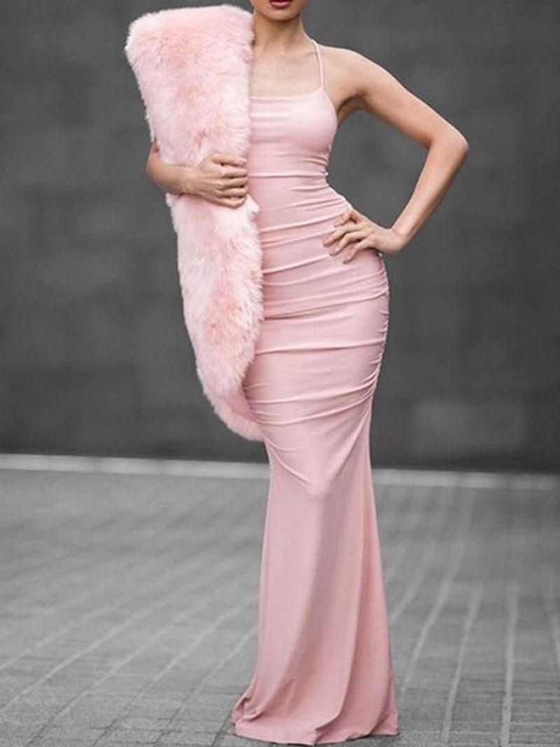 Ericdress Long Sleeve Floor-Length Bodycon Dress