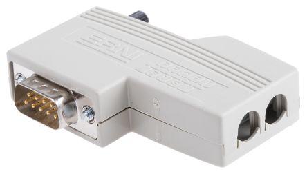 ERNI , ERbic 9 Way PROFIBUS IDC D-sub Connector, Plug, Galvanized Zinc Aluminium, Thermoplastic Shell