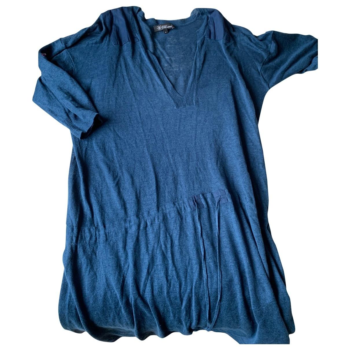 Isabel Marant Etoile \N Kleid in  Blau Leinen