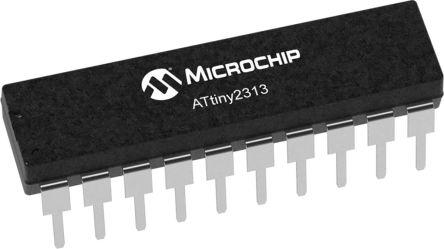 Microchip Technology ATTINY2313-20SUR, 8bit Microcontroller, Microcontrollers, 20MHz, 8 kB Flash, 20-Pin 20S (1000)
