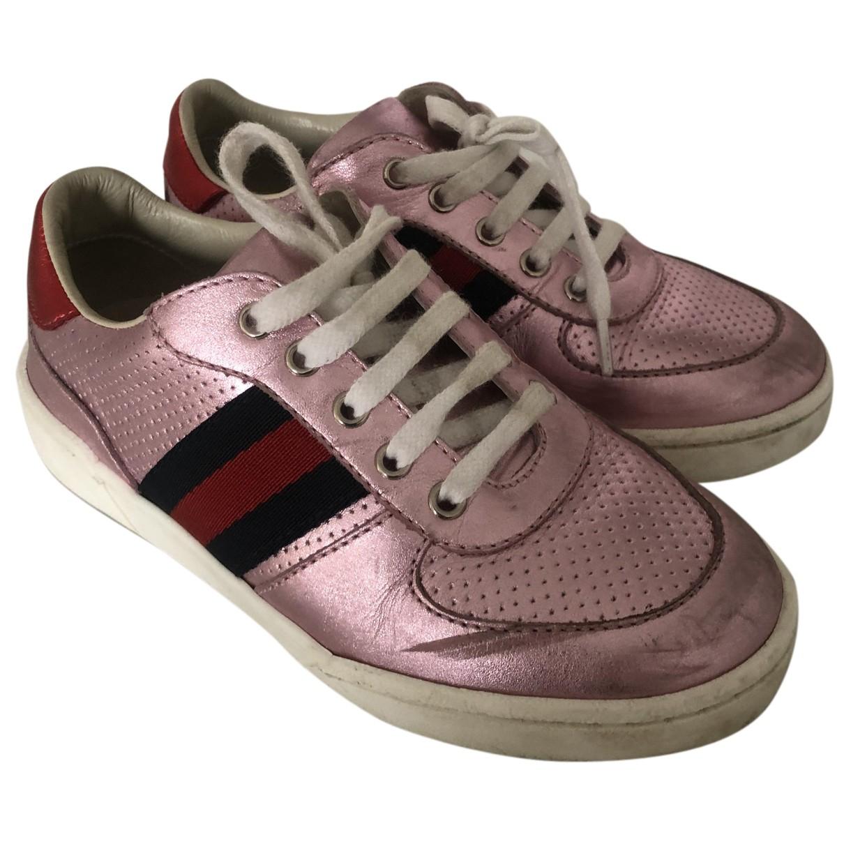 Gucci - Baskets   pour enfant en cuir - rose