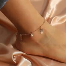 Faux Pearl Decor Owl Charm Anklet