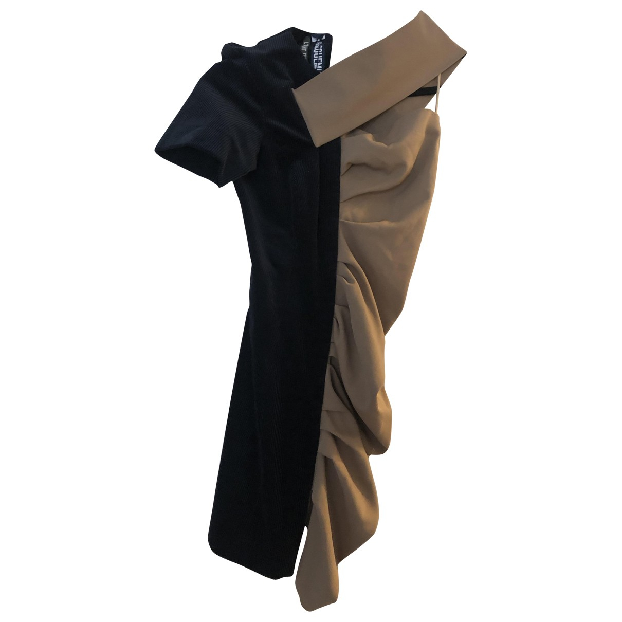 Jacquemus LEnfant du Soleil Kleid in  Schwarz Wolle