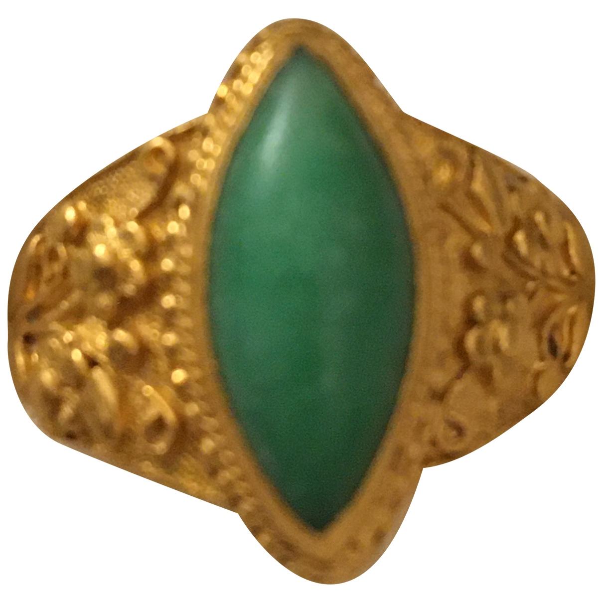 Anillo Turquoises de Oro amarillo Non Signe / Unsigned