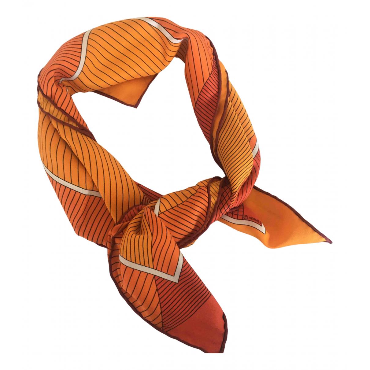Hermès Carré 70 Orange Silk Silk handkerchief for Women \N