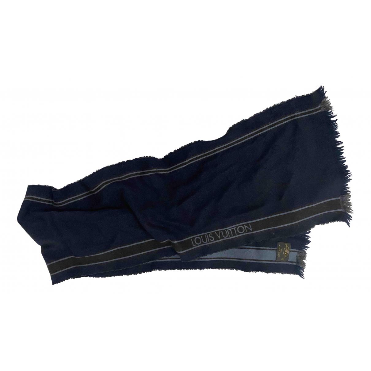 Louis Vuitton \N Tuecher, Schal in  Blau Wolle