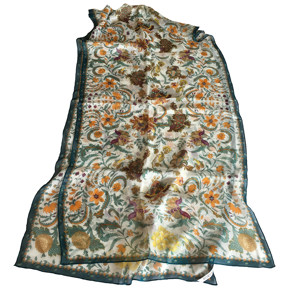 Non Signé / Unsigned N Multicolour Silk scarf for Women N