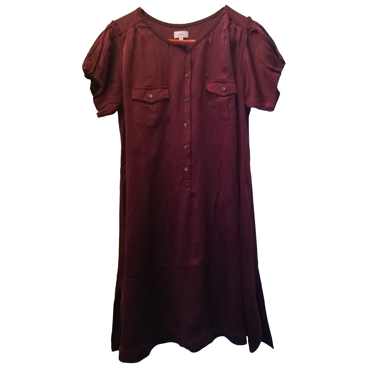 Malo \N Burgundy Silk dress for Women 46 IT
