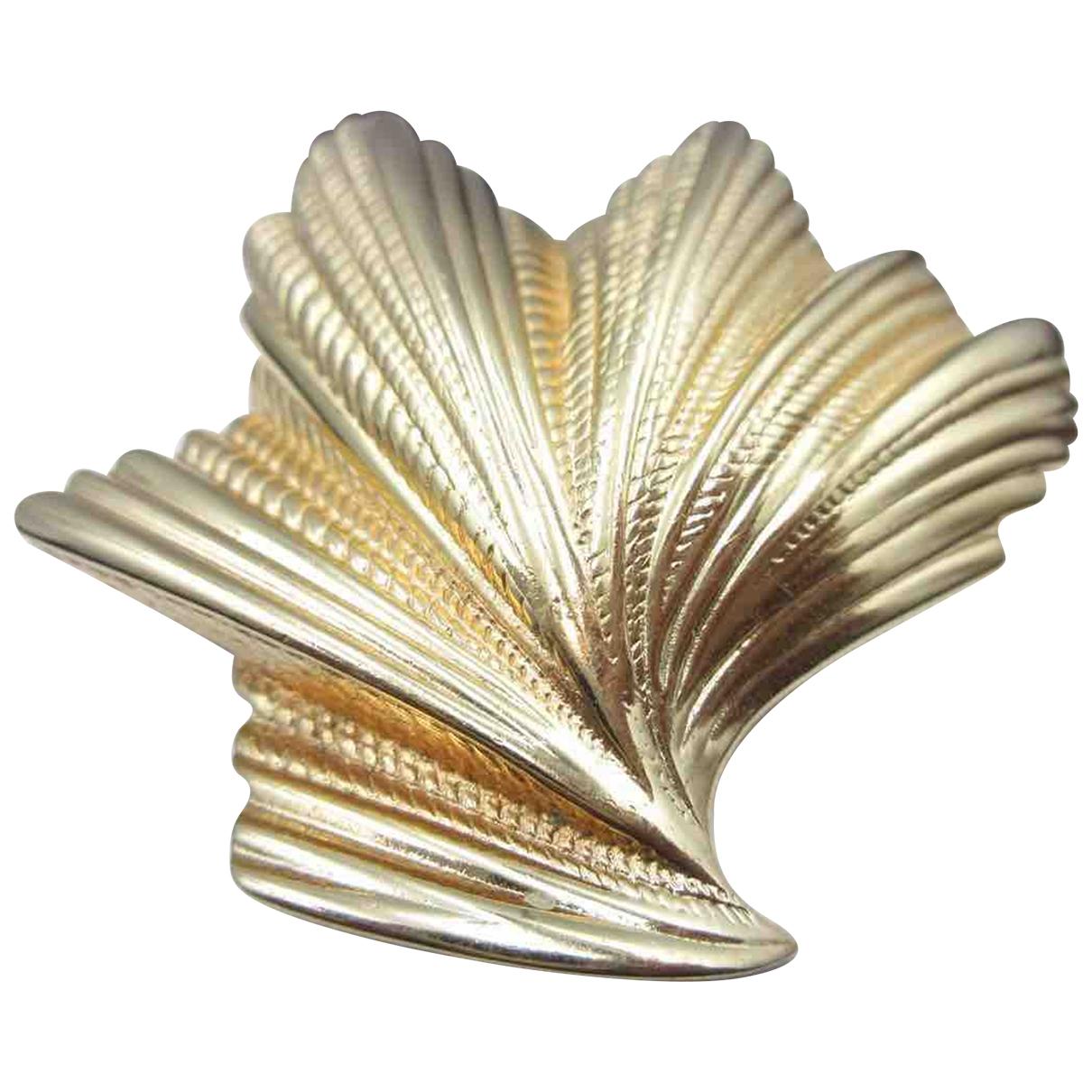 Dior - Broche   pour femme en cuir - dore