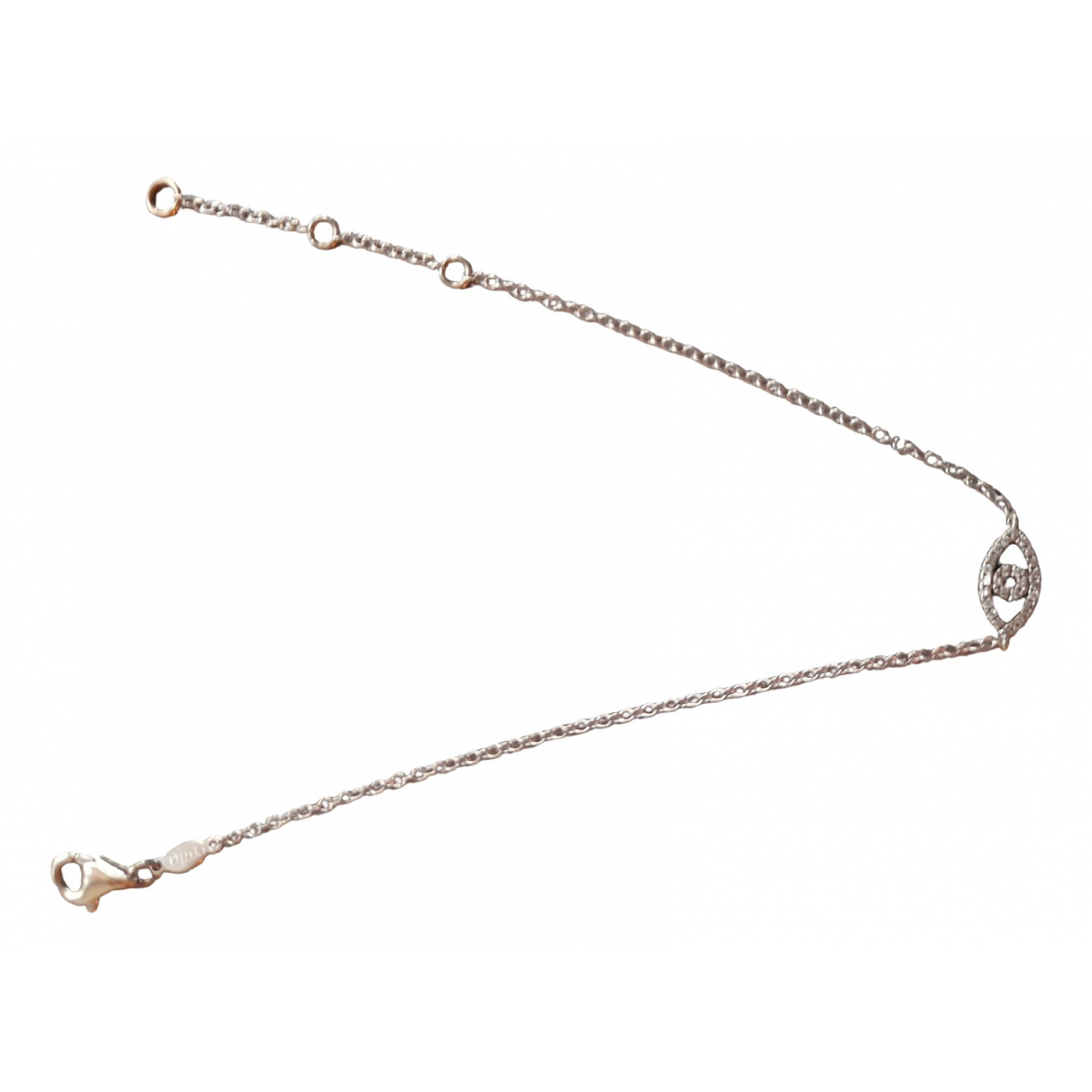 Djula \N Armband in  Silber Weissgold