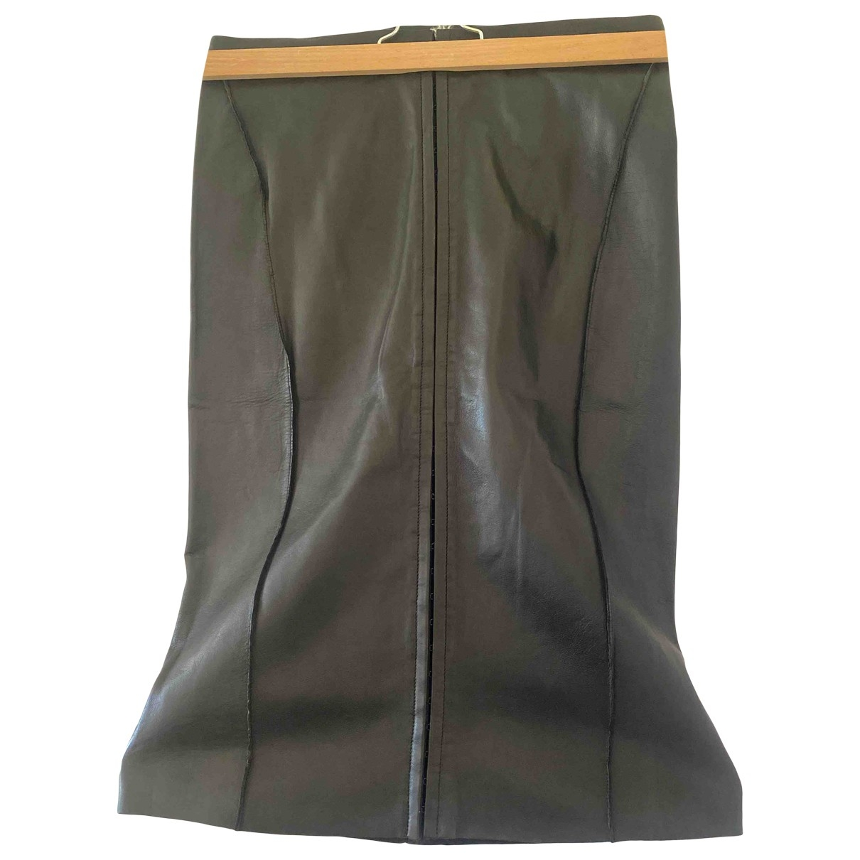 Calvin Klein - Jupe   pour femme en cuir - noir