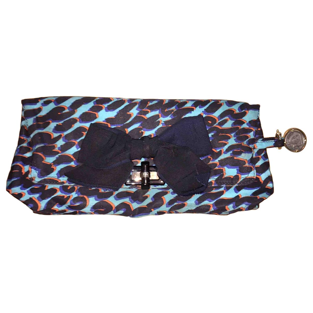Bolsos clutch en Algodon Azul Lanvin