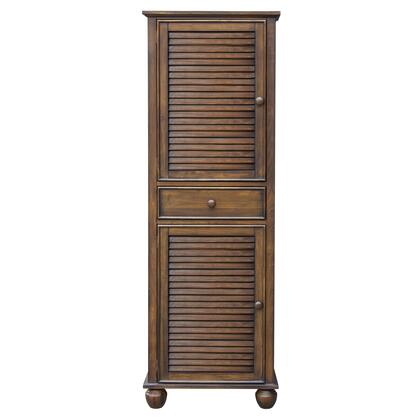 CF-1145-0158 Bahama Shutter Wood Tall Cabinet with 2 Doors  1 Drawer  in Tropical