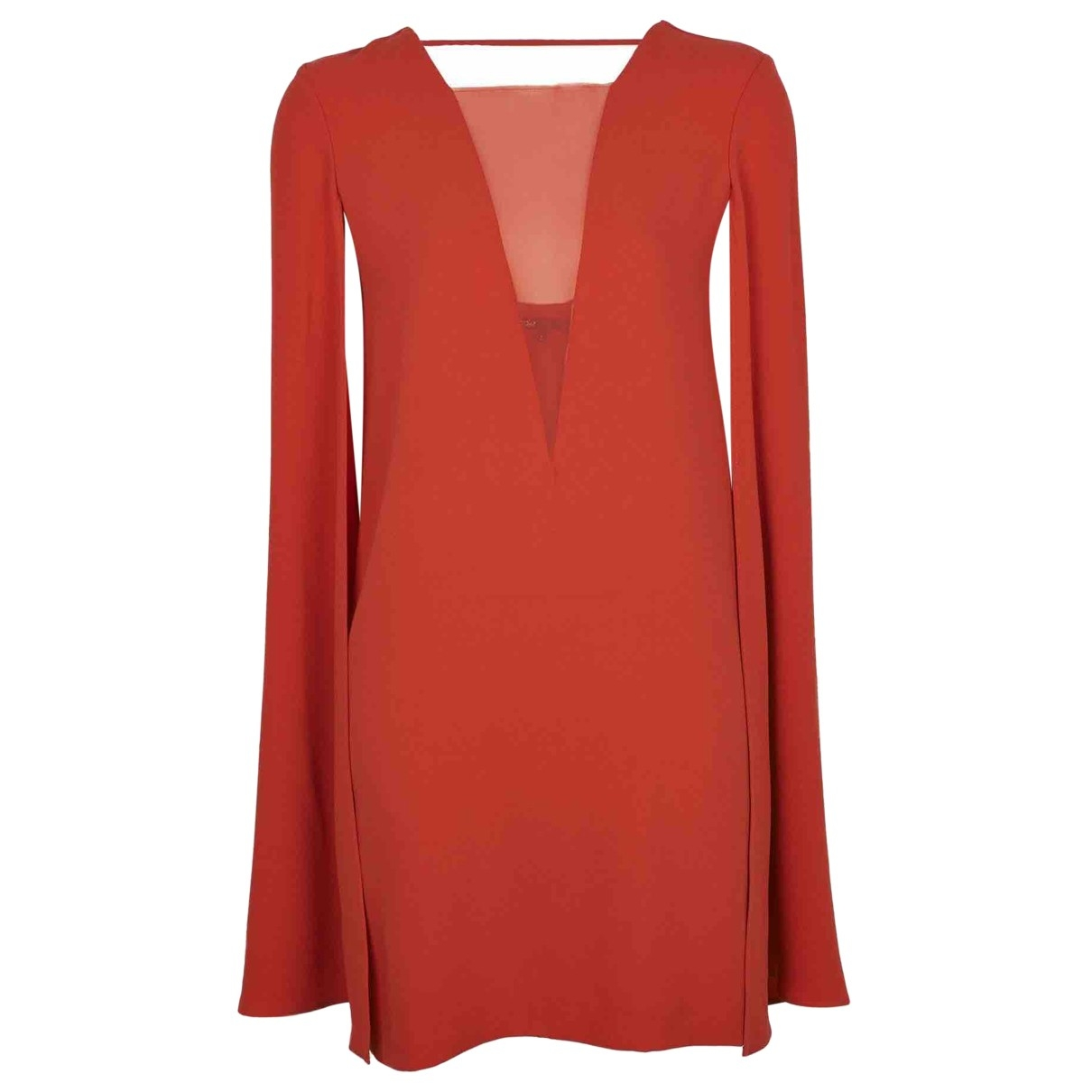 Maje \N Kleid in  Rot Polyester