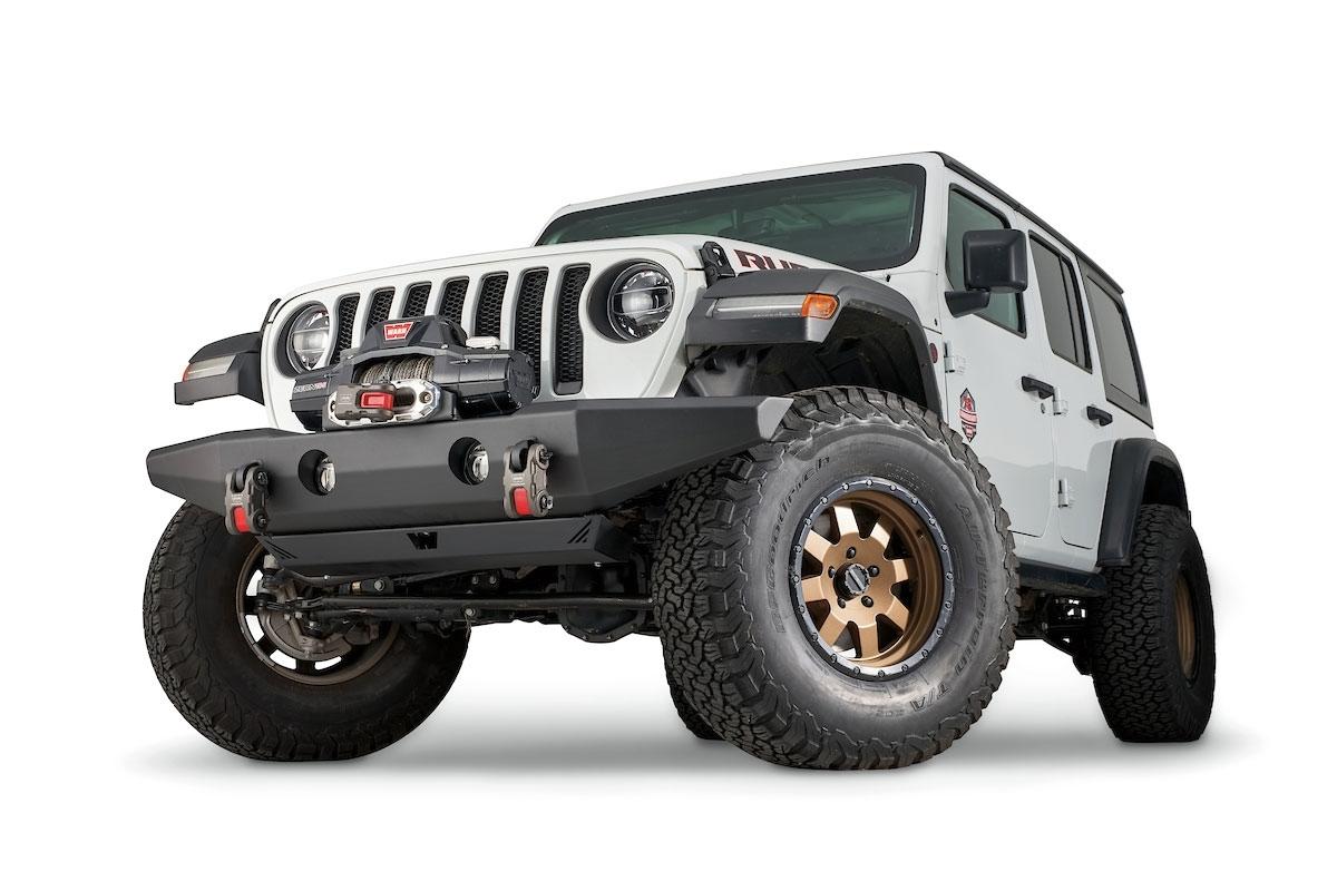 Warn Industries 102145 Crawler Front Full-Width Bumper w/o Grille Guard Tube Jeep Wrangler 07-18