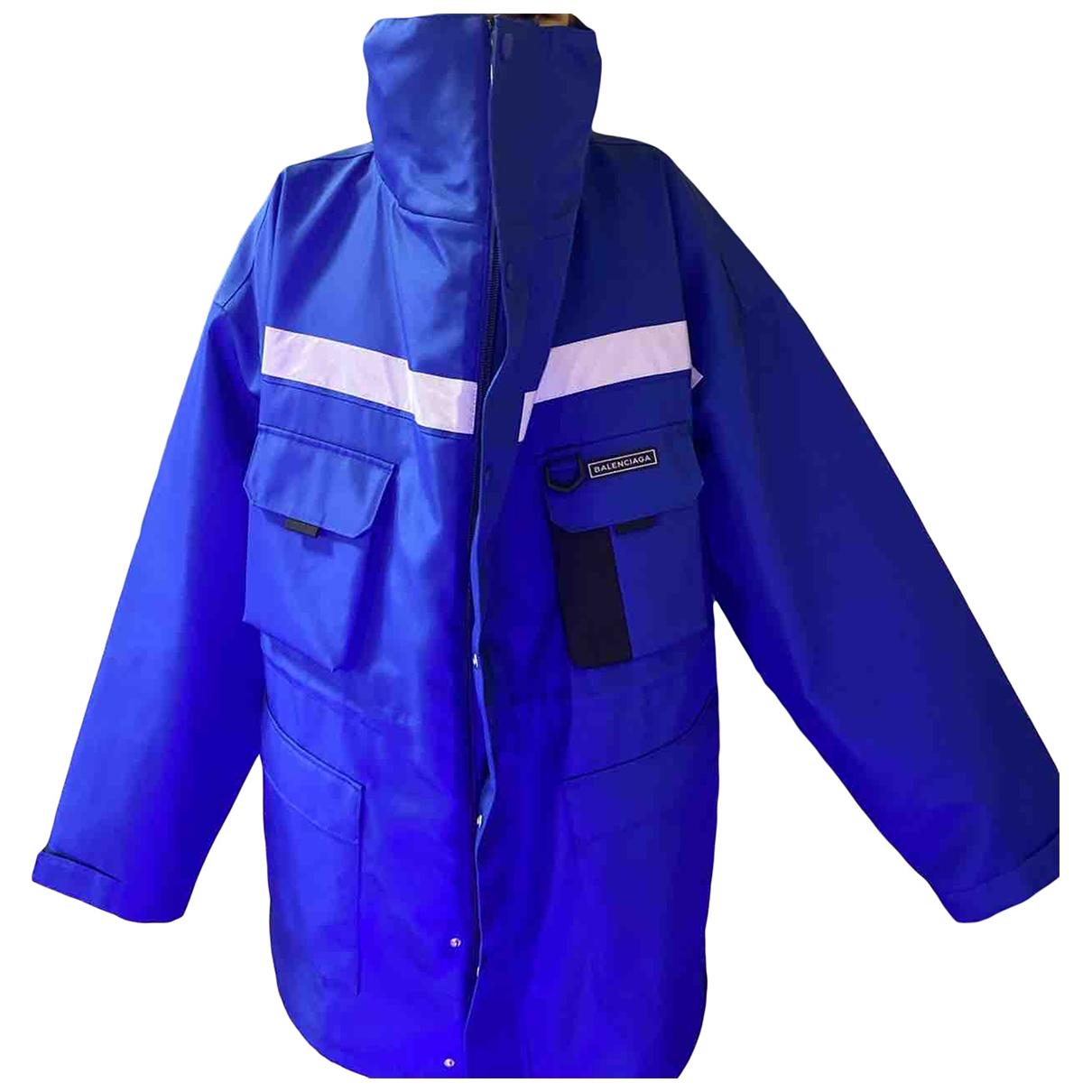 Abrigo en Poliester Azul Balenciaga