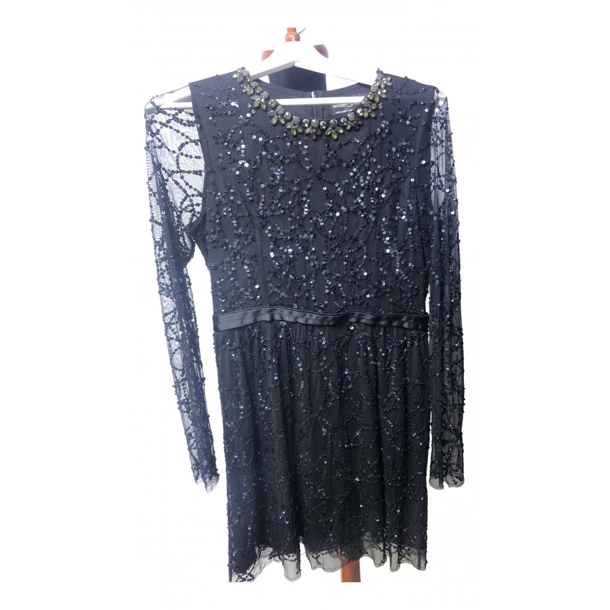 Needle & Thread \N Kleid in  Schwarz Spitze