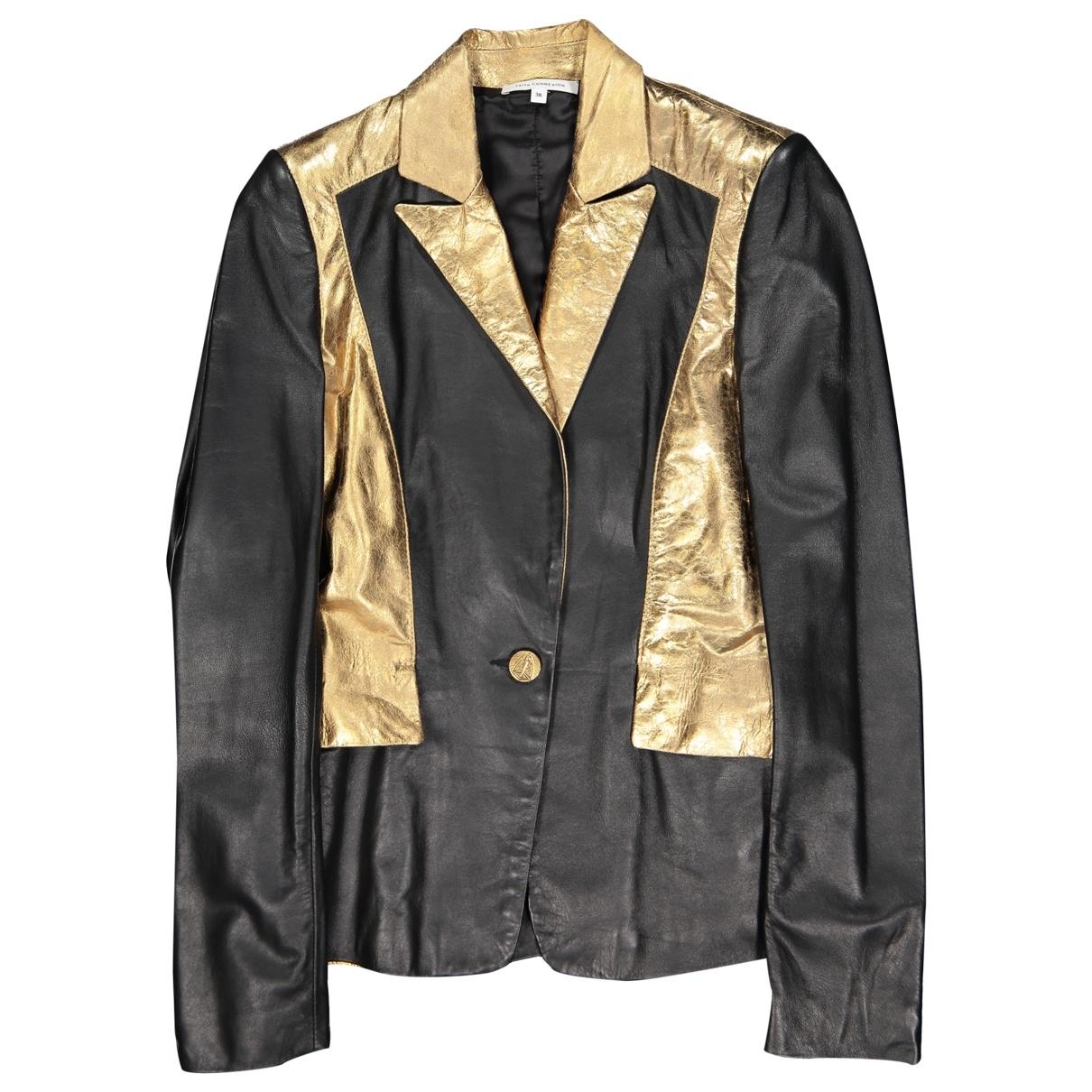 Faith Connexion \N Black Leather jacket for Women 36 FR