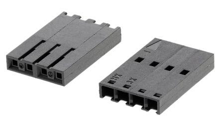 Molex , SL Female Connector Housing, 2.54mm Pitch, 4 Way, 1 Row (10)