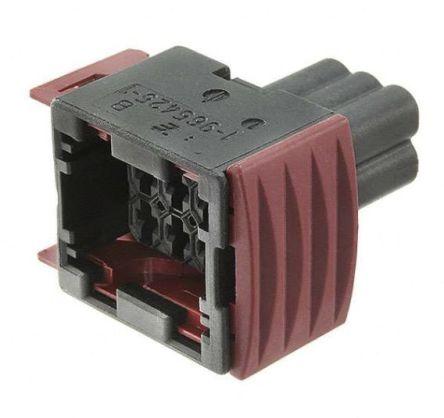 TE Connectivity , Junior Power Timer Automotive Connector Socket 2 Row 6 Way, Grey