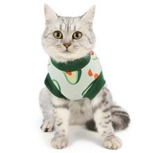 Sweatshirt mit Avocado Muster fuer Katzen