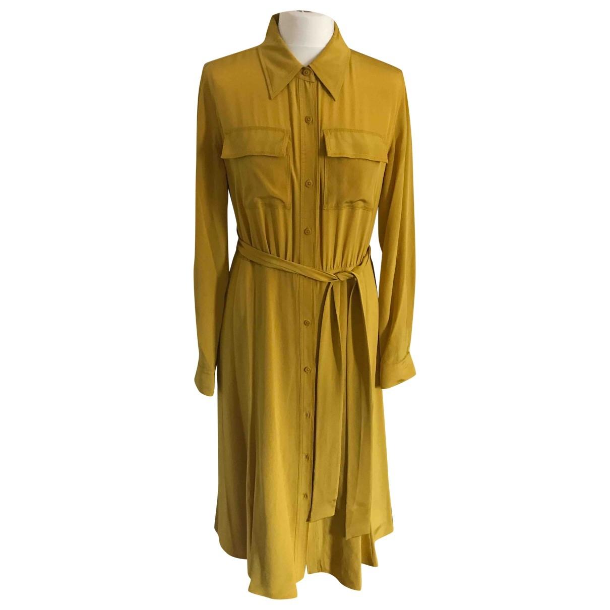Diane Von Furstenberg \N Yellow Silk dress for Women M International