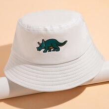 Rhinoceros Embroidery Bucket Hat