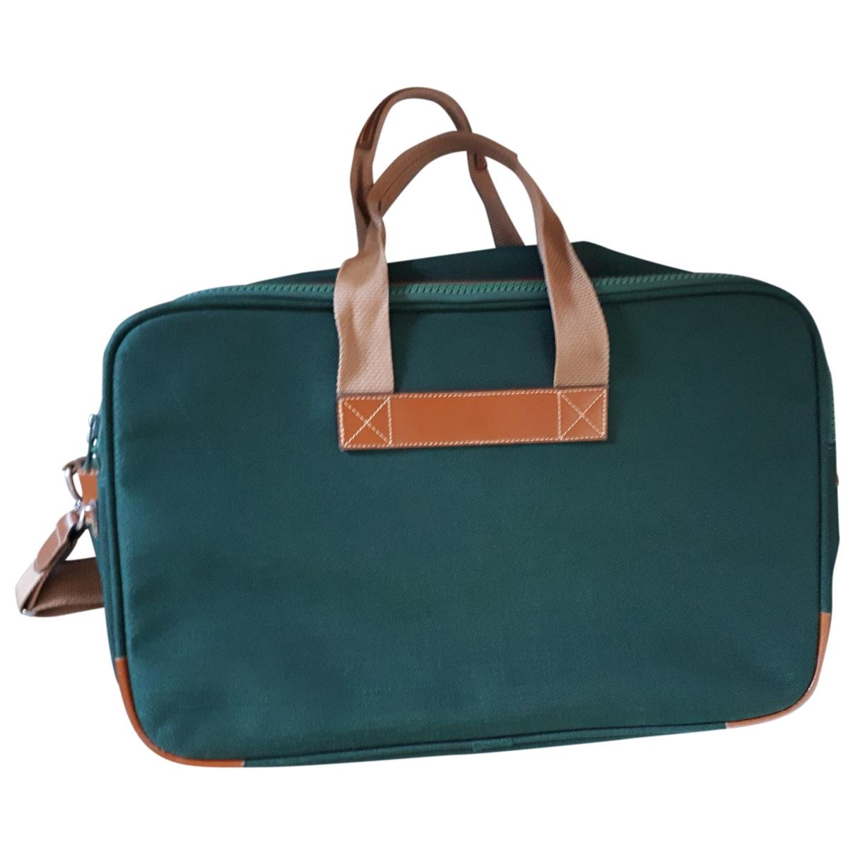 Lancel - Sac de voyage   pour femme en toile - vert