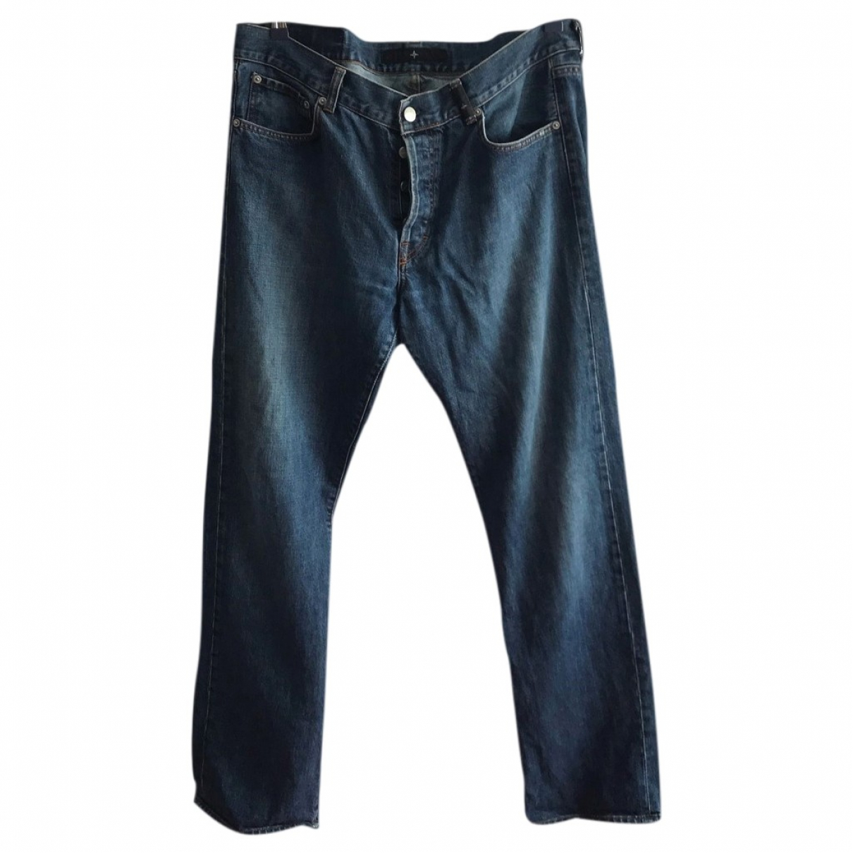Stone Island \N Blue Cotton Jeans for Men 36 US