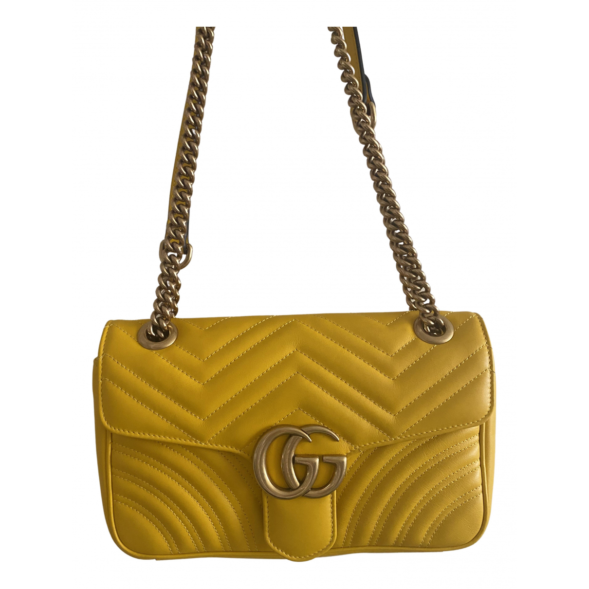 Gucci Marmont Yellow Leather handbag for Women N