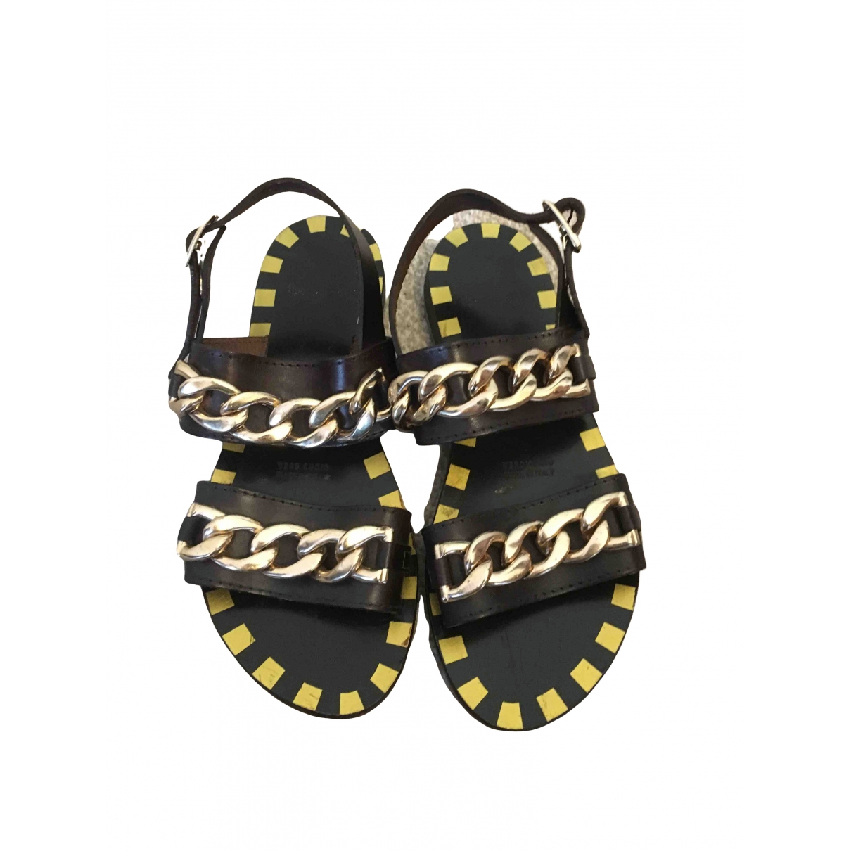 Non Signé / Unsigned \N Brown Leather Sandals for Women 37 EU