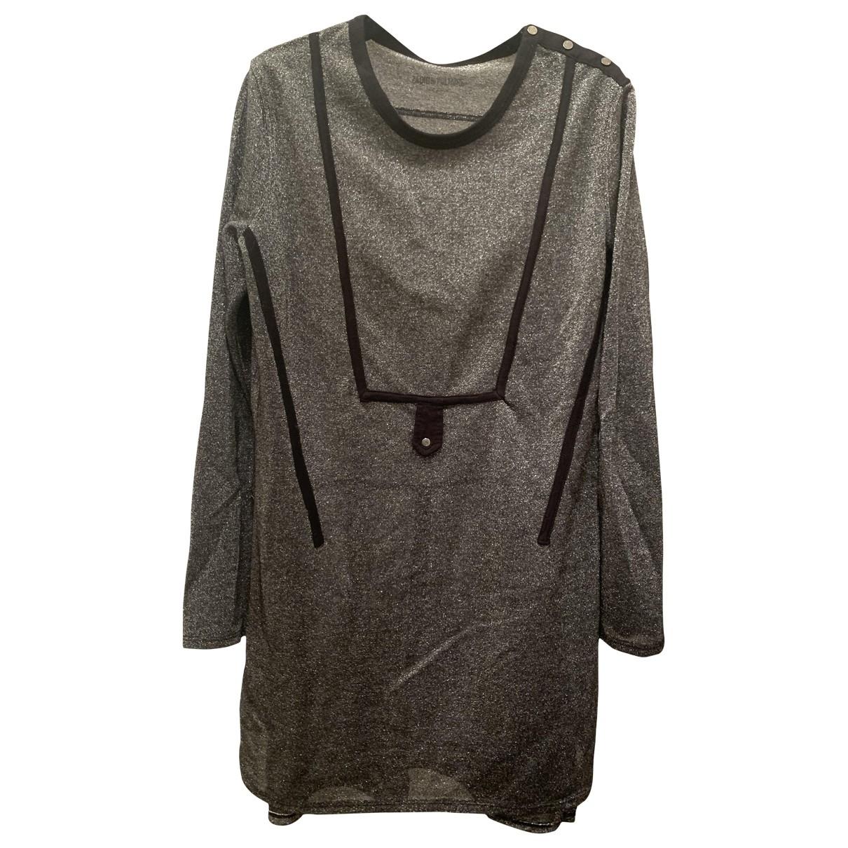 Zadig & Voltaire \N Kleid in  Silber Viskose