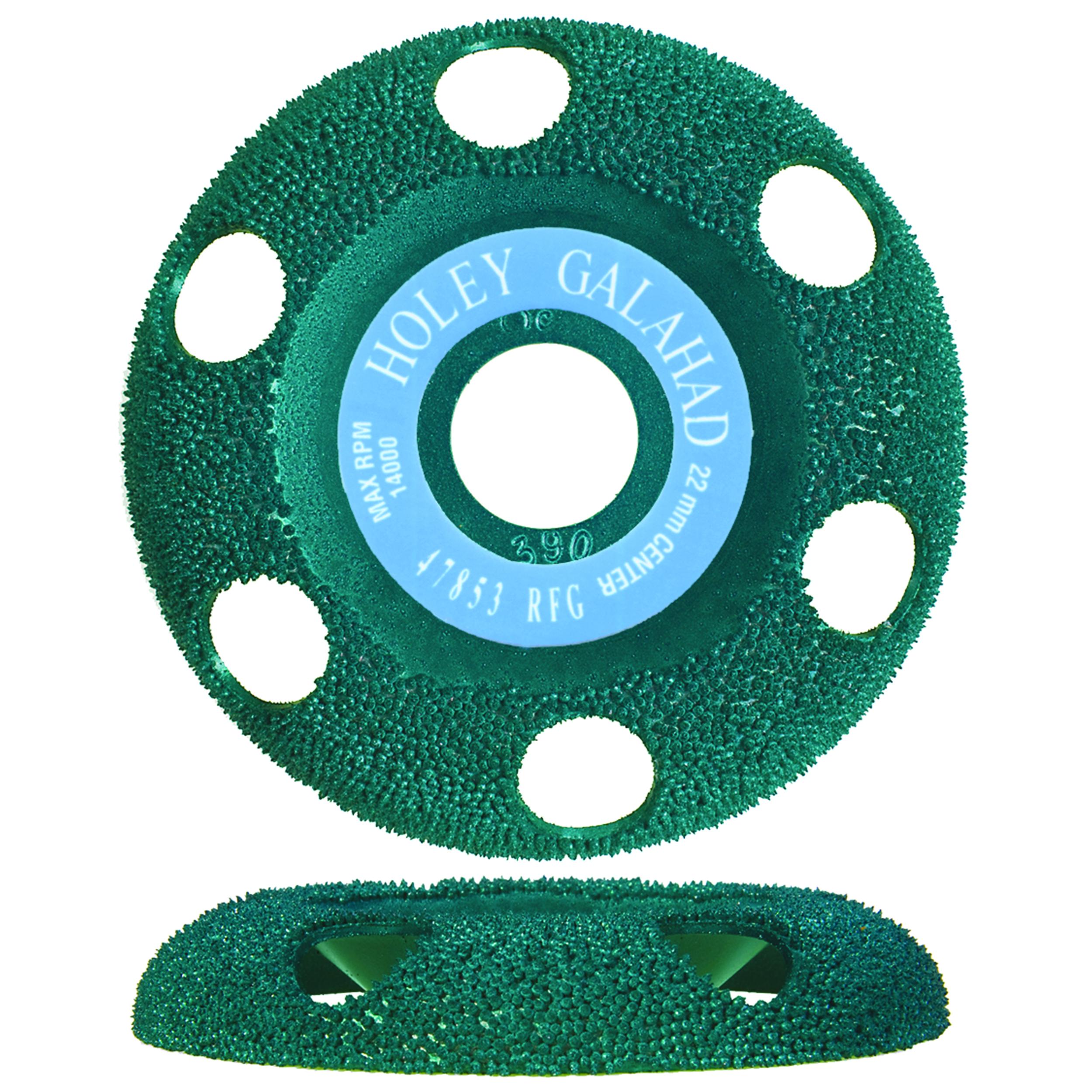 Holey Galahad See Through Disc Round Fine, Green 7/8