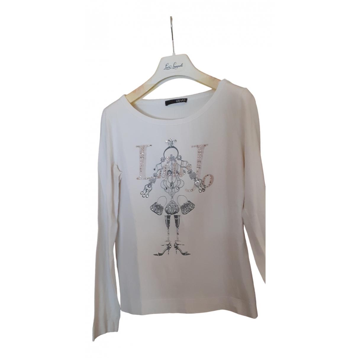Liu.jo - Pull   pour femme en coton - blanc