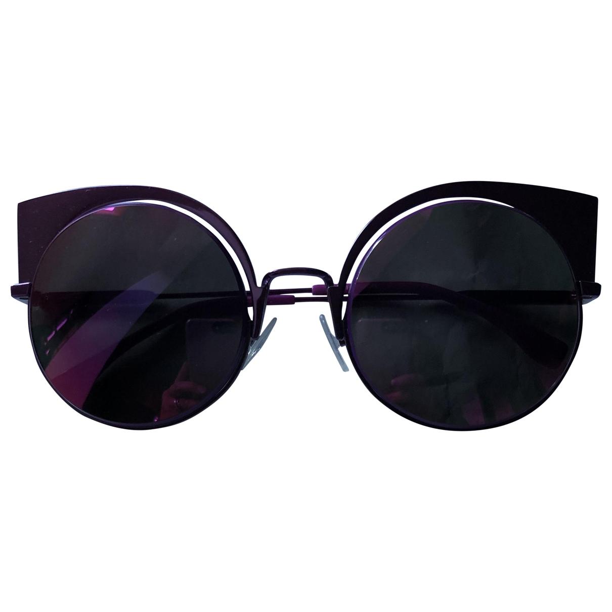 Fendi \N Sonnenbrillen in  Lila Metall
