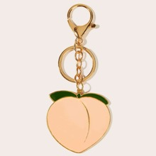 Peach Pendant Keychain With Lobster Clasp