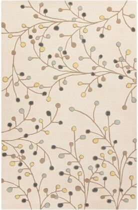 Athena Collection ATH5116-58 Rectangle 5' x 8' Area Rug  Hand Tufted with Wool Material in Neutral and Green
