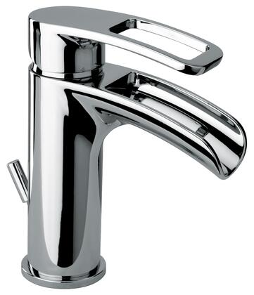 10211WFS-68 Single Loop Handle Lavatory Faucet With Waterfall Spout Polished Nickel