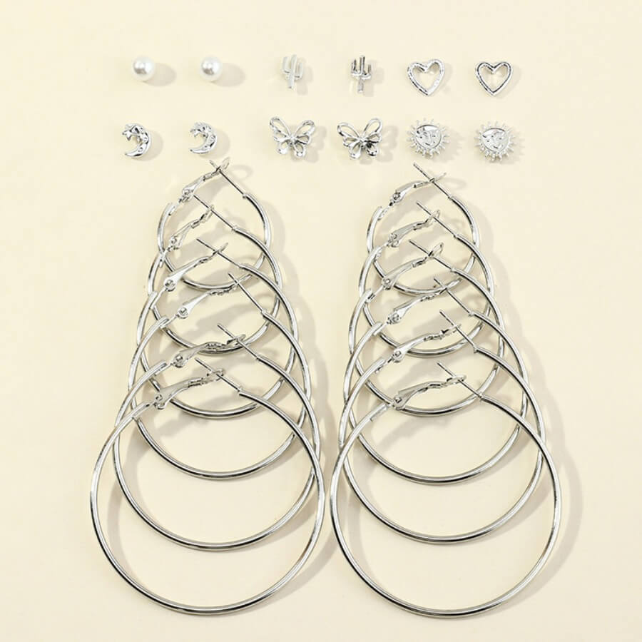 LW Lovely Stylish Hollow-out Silver Earring