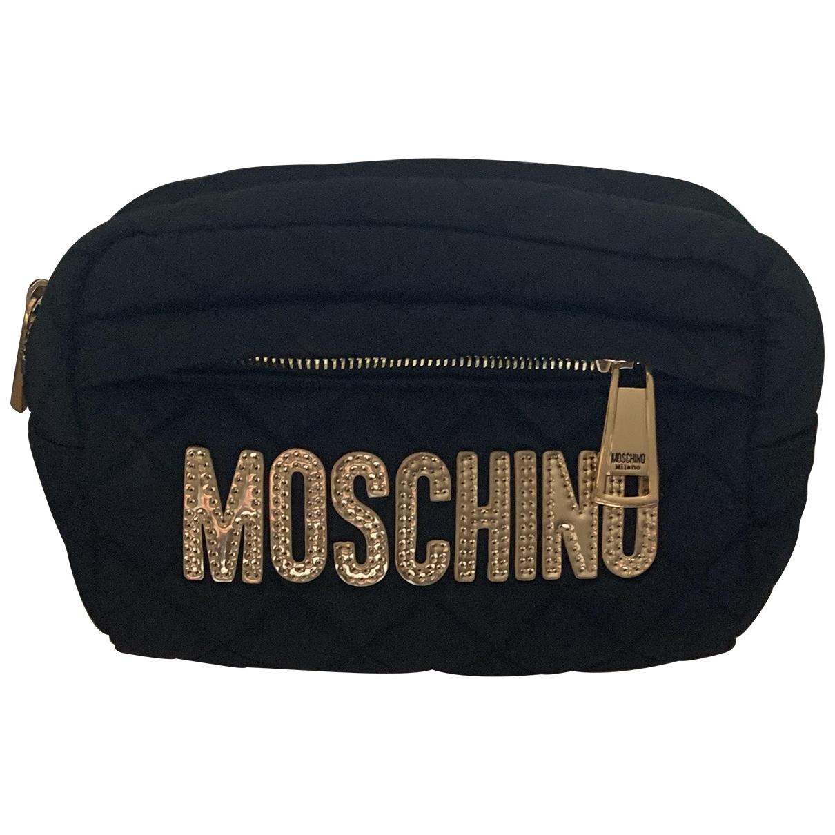 Bolsos clutch en Sintetico Negro Moschino