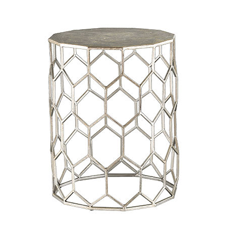 Lawsall Metal Accent Table, One Size , Silver