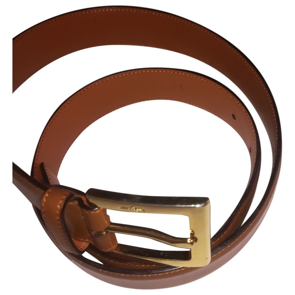 Salvatore Ferragamo \N Camel Leather belt for Men 90 cm