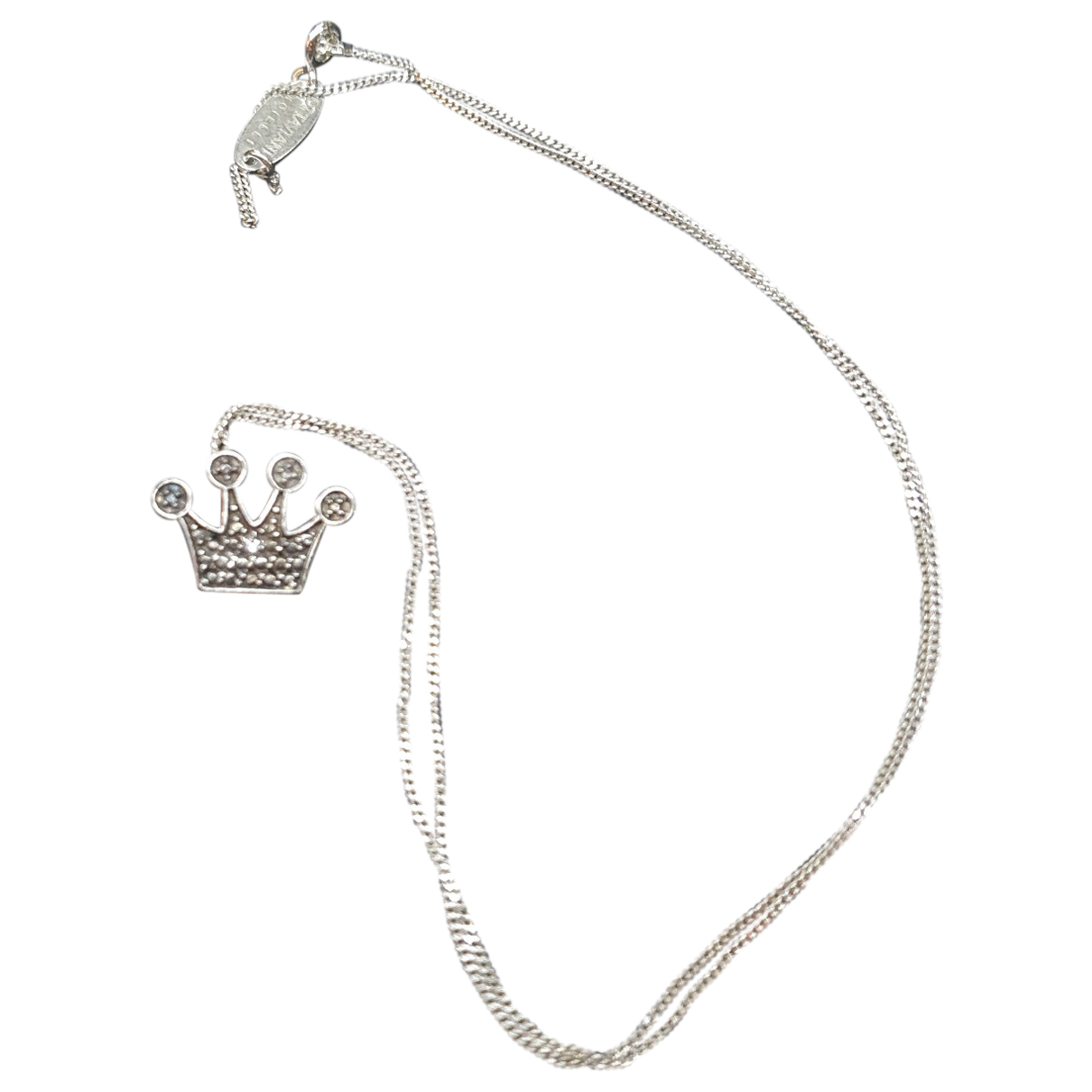 Non Signé / Unsigned Gourmette Silver Silver necklace for Women N