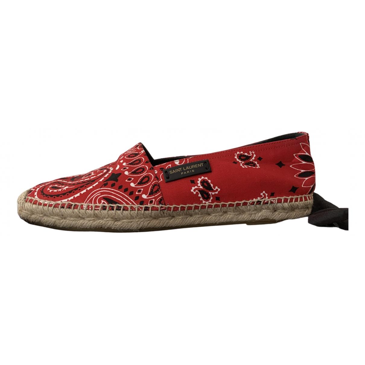 Saint Laurent - Espadrilles   pour femme en toile - rouge