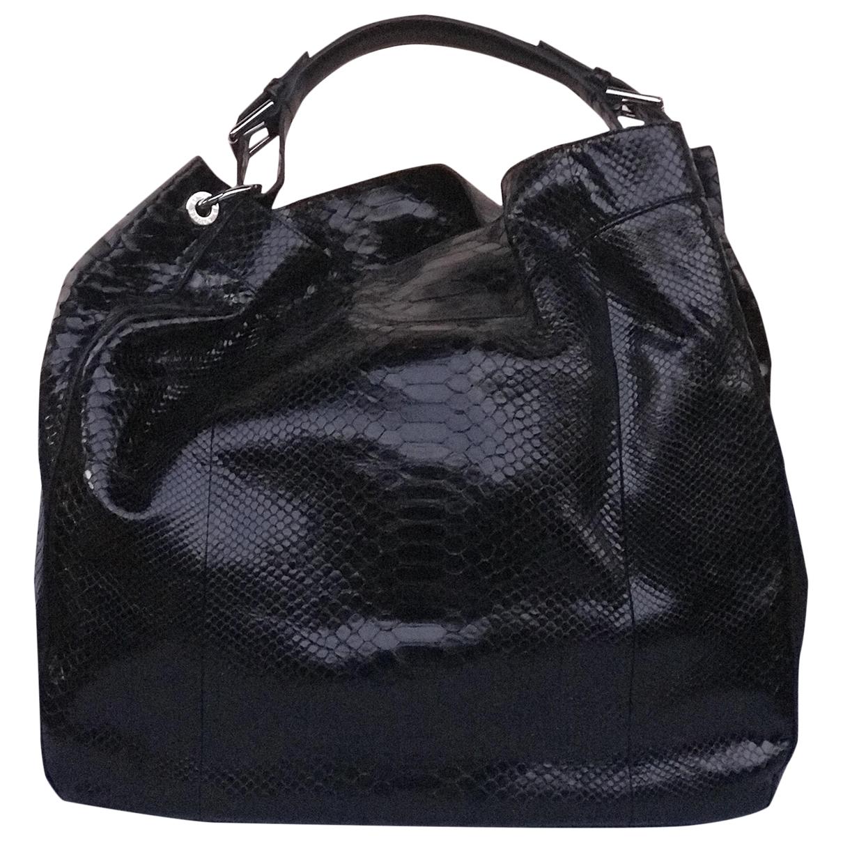 Ralph Lauren \N Black Python handbag for Women \N